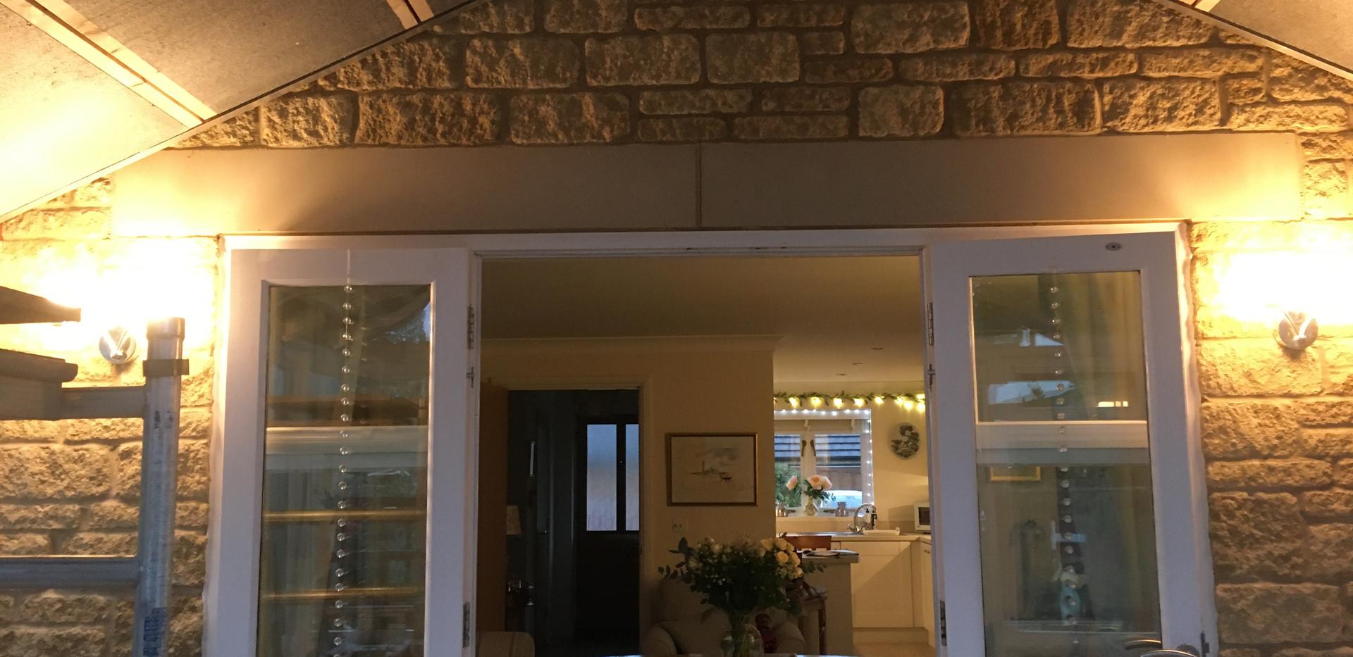 Before ceiling plastered