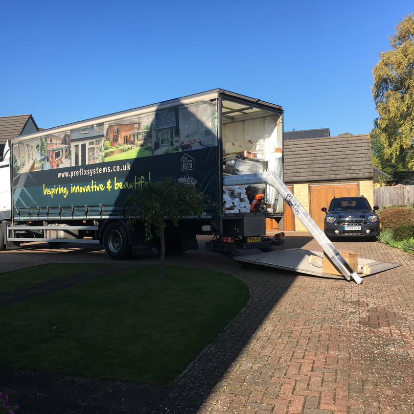 Delivery of new roof