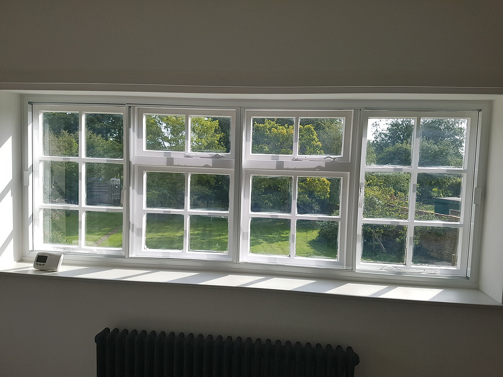 Horizontal sliders secondary glazing