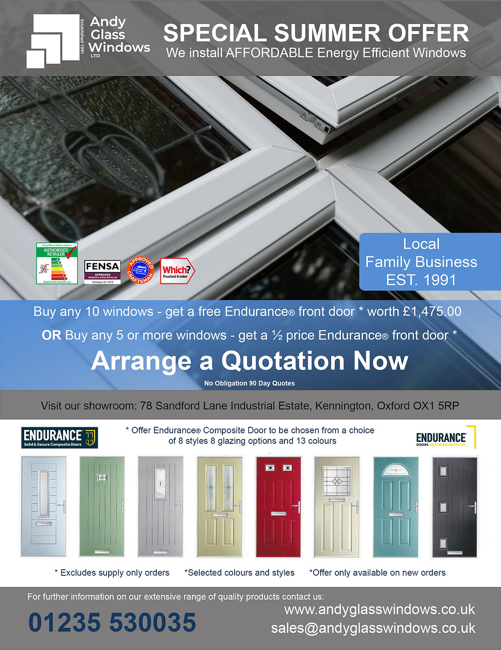 Special Summer Offer from Andy Glass Windows