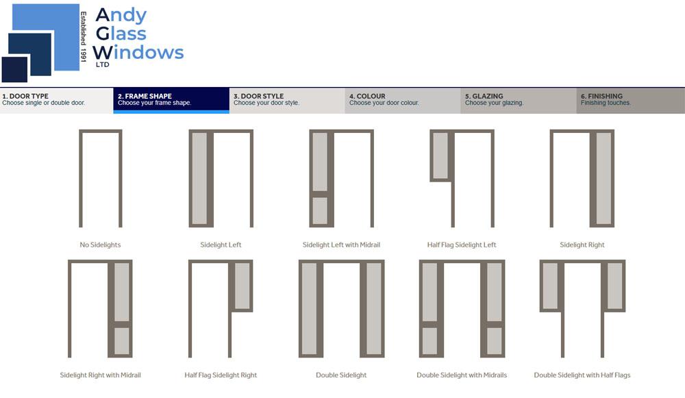 Choose a door frame style