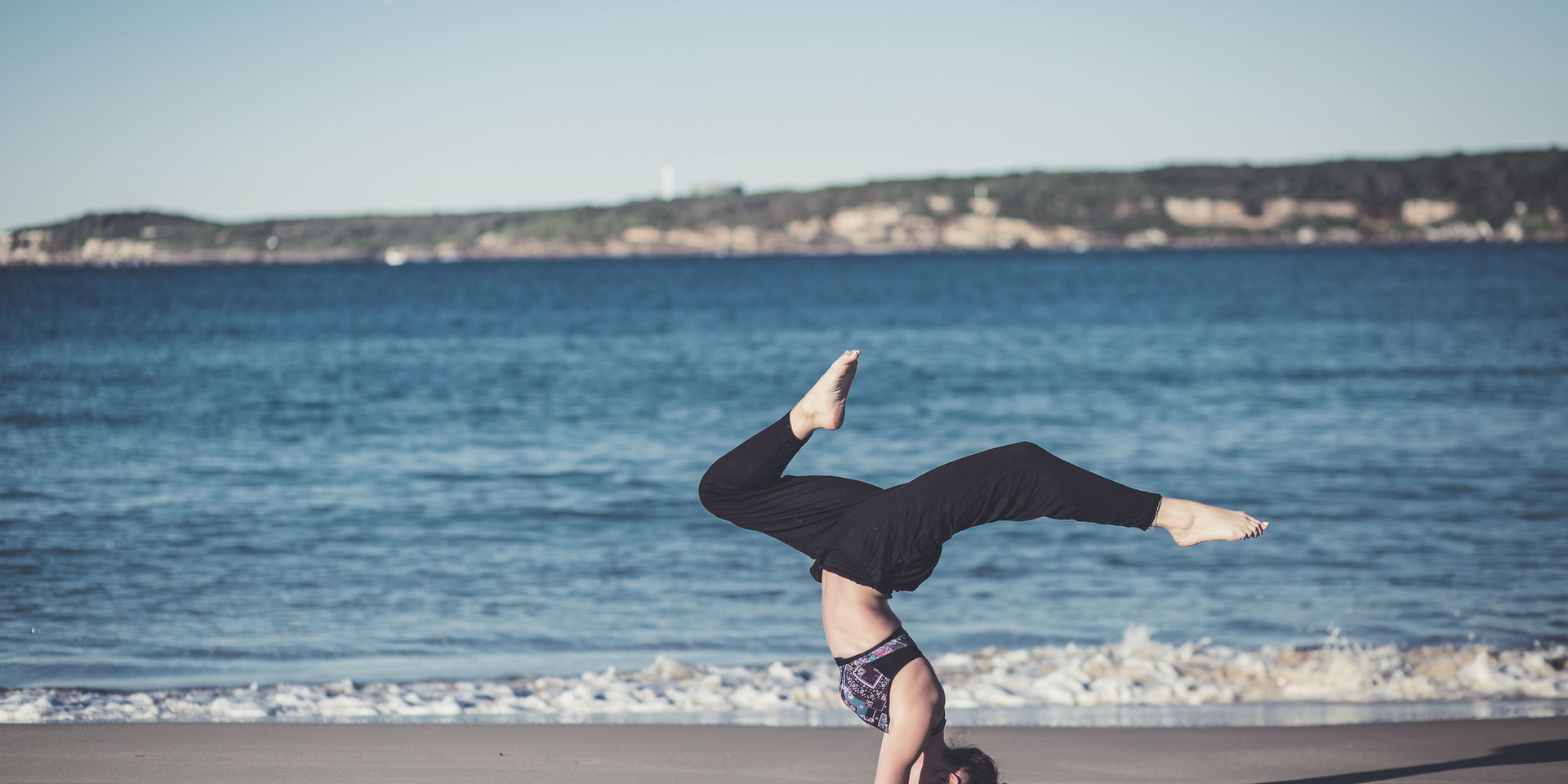 Forearm Stand Beach Yoga