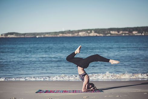 Headstand by the Beach
