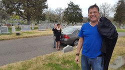 Francisco walking to location on the first day of filming