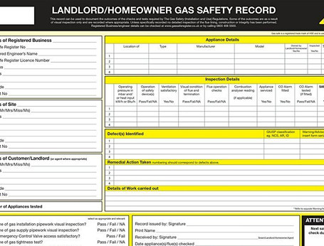 Gas Landlord Certificate