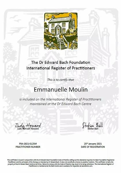 Agrement Conseillere Fleurs de Bach Emmanuelle Moulin