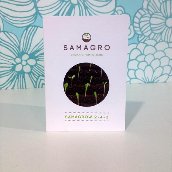 Samagro staal/visitekaartje