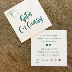 Logo + visitekaart  Gîtes Còr Causy