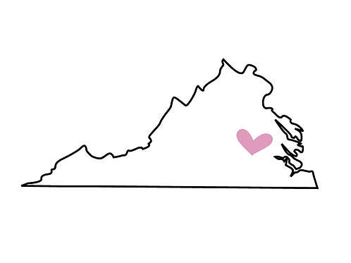 Virginia Location Love Print, Richmond, 8x10