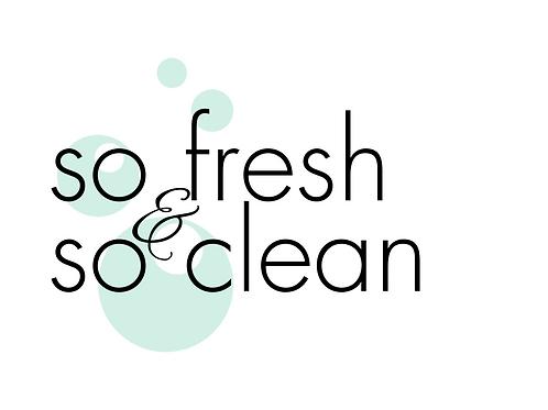 So Fresh & So Clean, Bathroom Print, 8x10