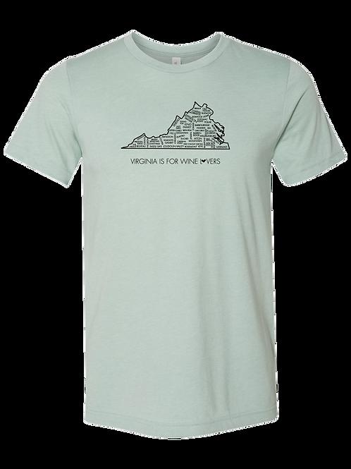VA is for Wine Lovers, Unisex T-Shirt