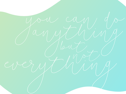 You Can Be Motivational Print, 8x10