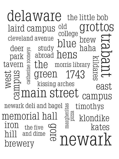 University of Delaware Collage, 8x10