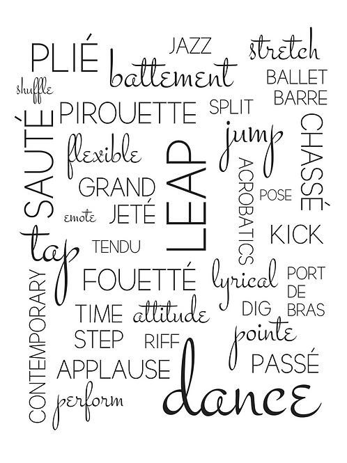 Dance Collage, 8x10