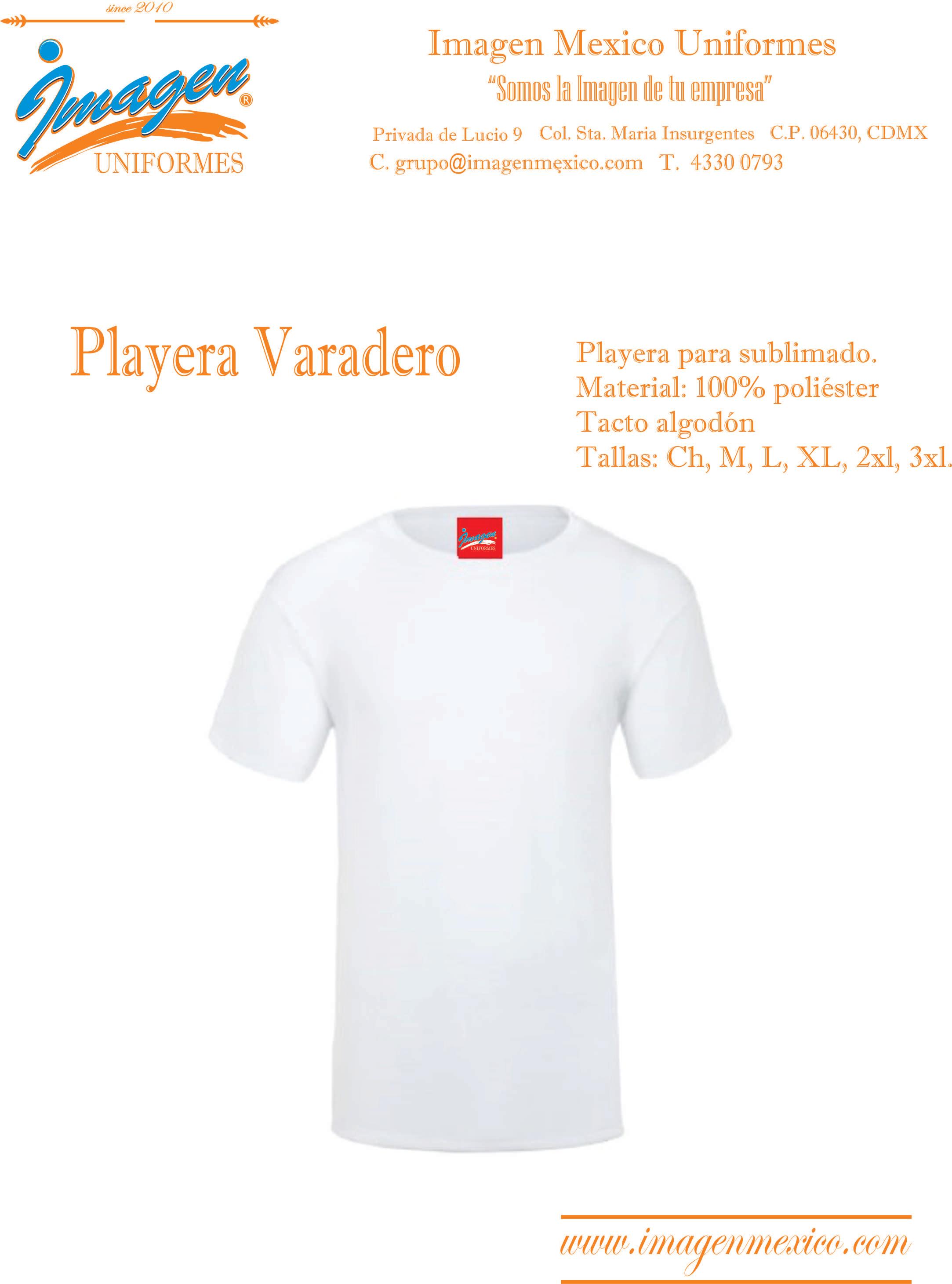 PLAYERA VARADERO PARA SUBLIMADO