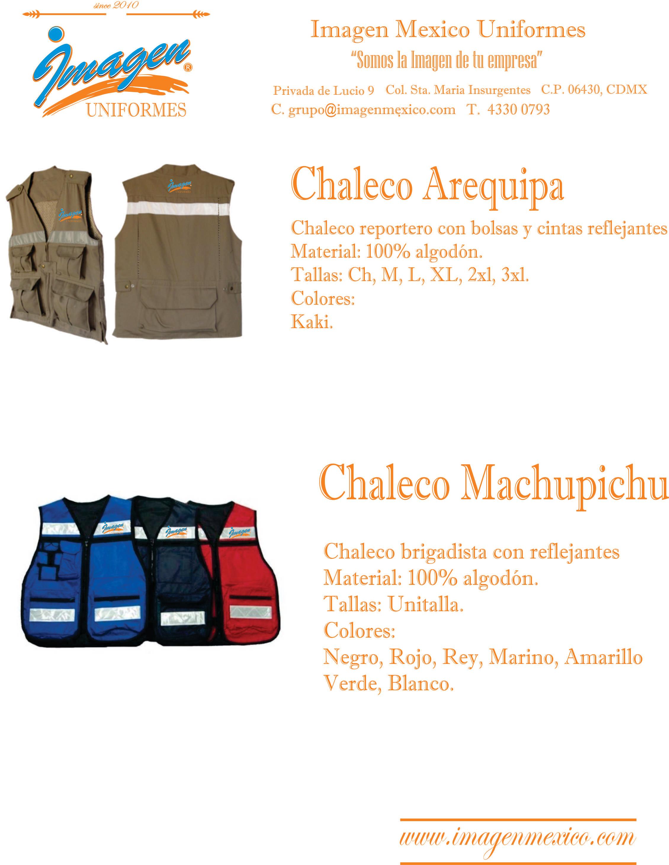 Chalecos Peru de Gabardina Reflejant
