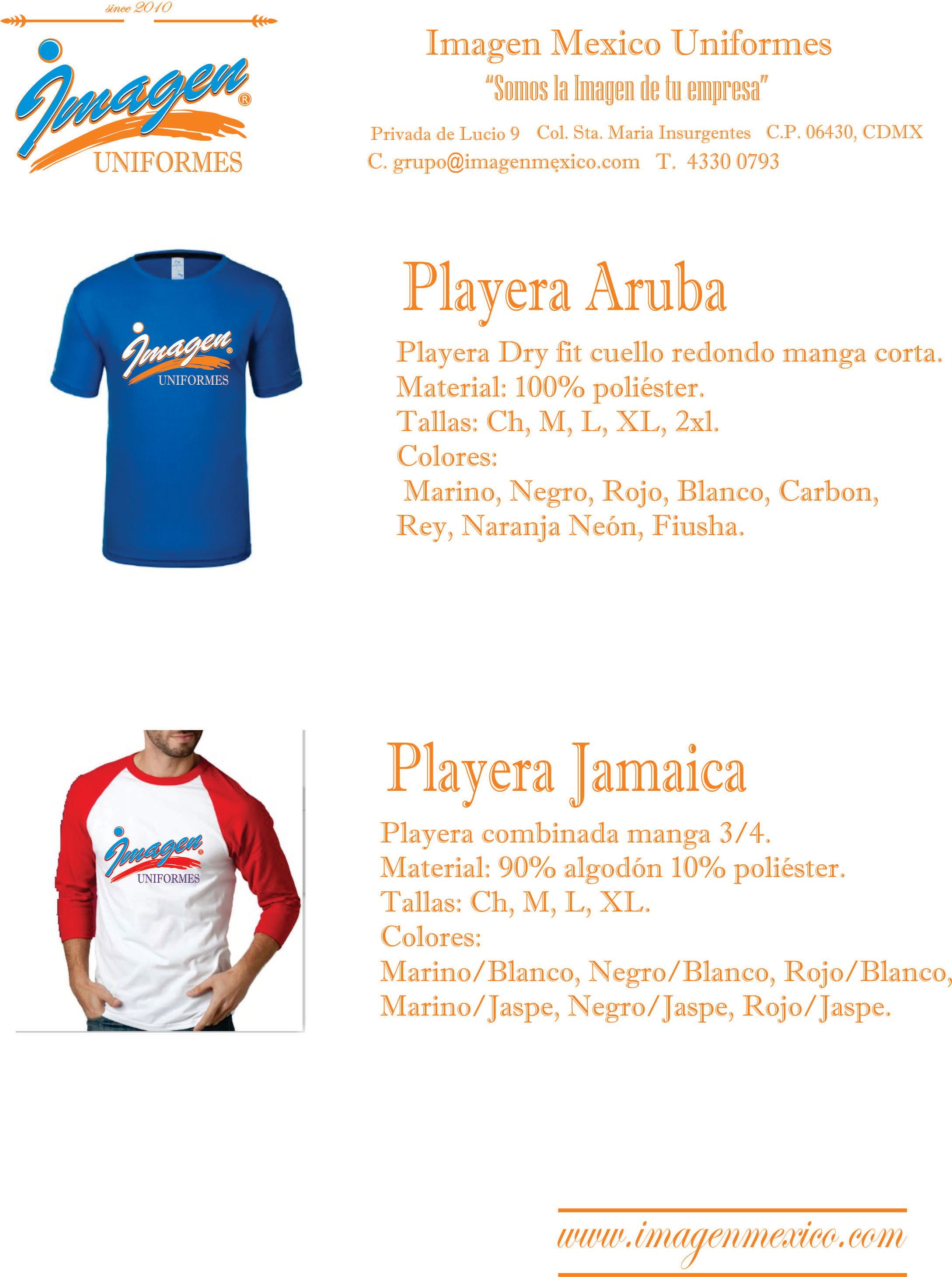 PLAYERAS CARIBE 2 DRY FIT