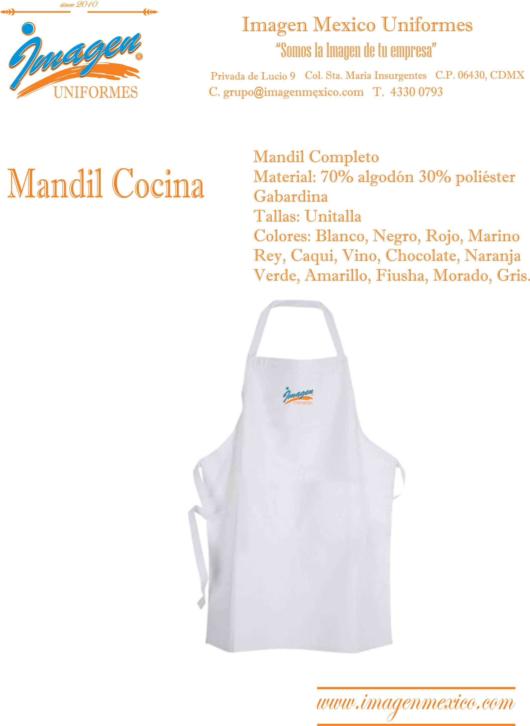 MANDIL COCINA