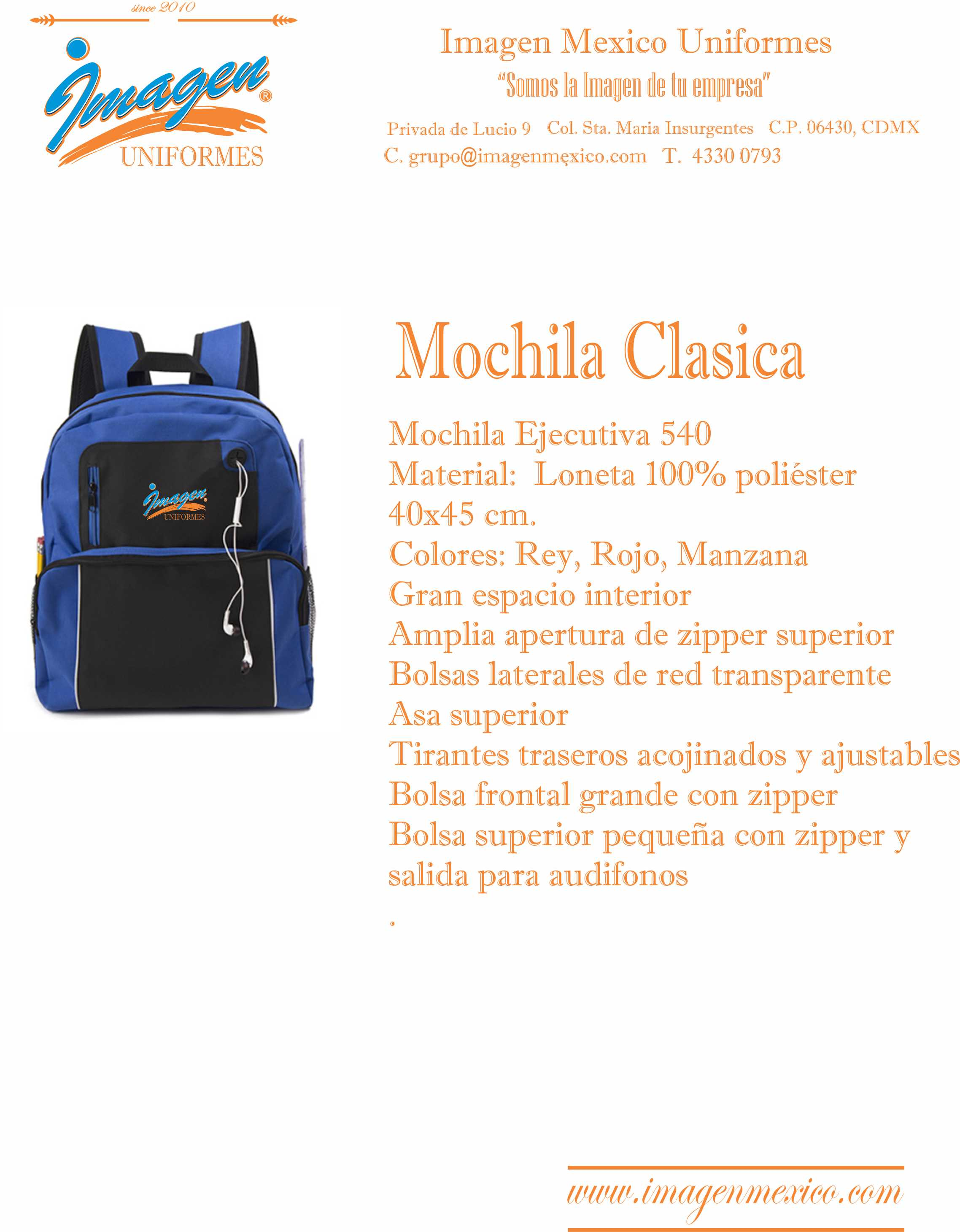 MOCHILA CLASICA