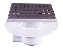 111065 - LoLo Drain Stainless Steel Square Hole 200x200