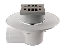 097708 - BalconyDrain Complete 75mm Side Outlet 110 Grate