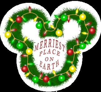 Merriest Christmas Mickey Sticker