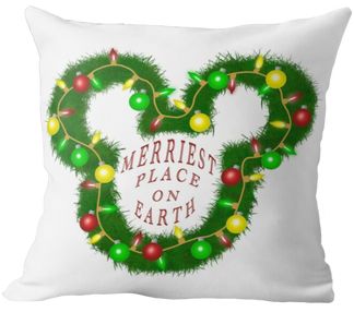 Merriest Place on Earth Pillow