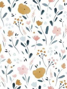 Popeline fleurs - Katia