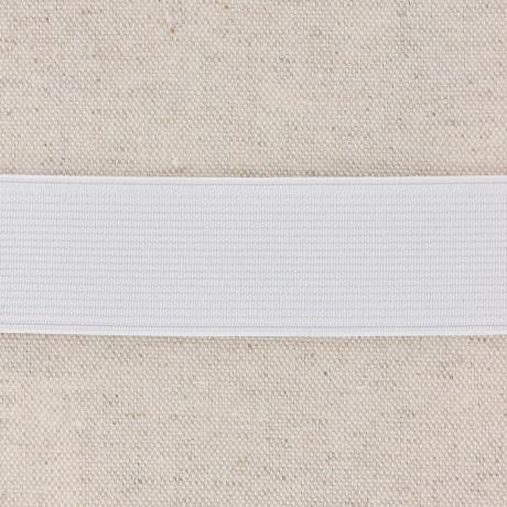 Élastique cotelé 30mm blanc