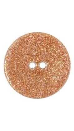 Bouton nacre orange 15mm