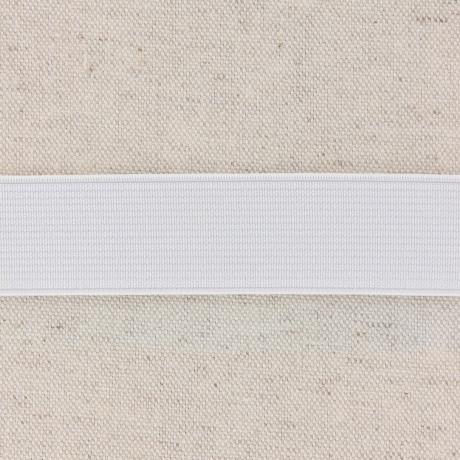 Élastique cotelé 25mm blanc