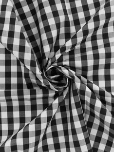Tissu vichy popeline coton