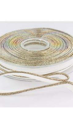 Passepoil 10mm blanc lurex doré  - Lise Taylor