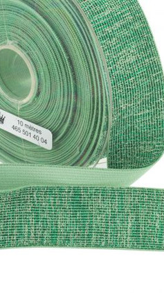 Elastique lurex turquoise 40mm.j