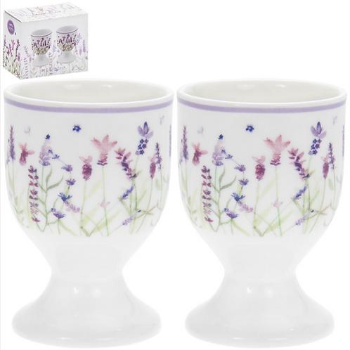 Lavender Design Egg Cups