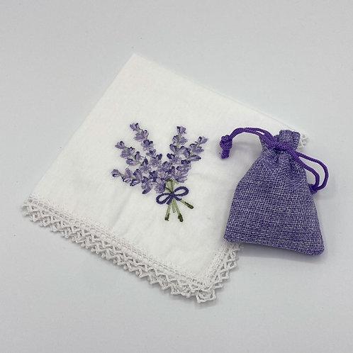 Handkerchief and Mini Lavender Bag Set