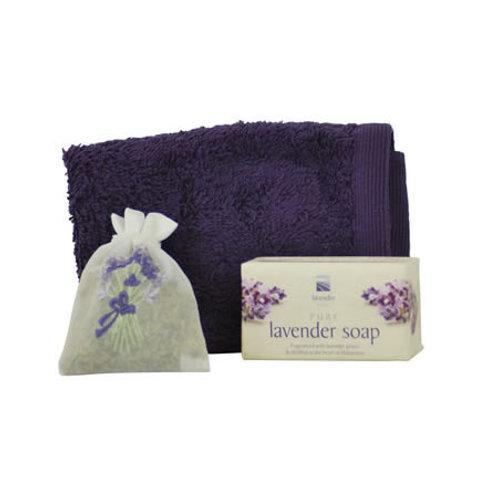 Lavender Soap, Flannel & Favour Bag