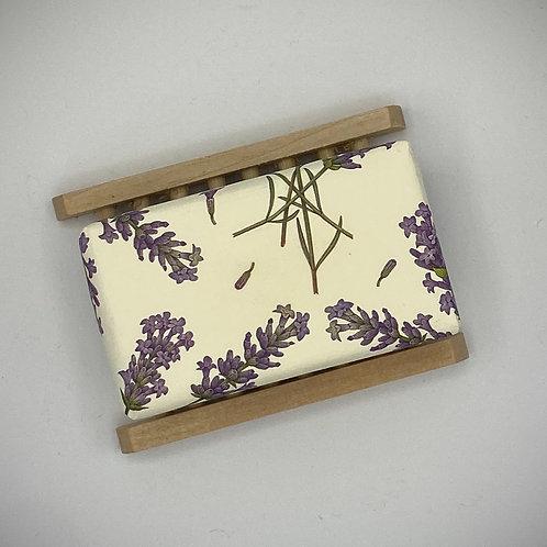 Lavender Soap & Dish Set - 200g