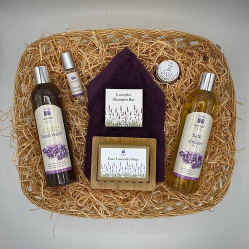 The Lavender Bathroom Gift Set
