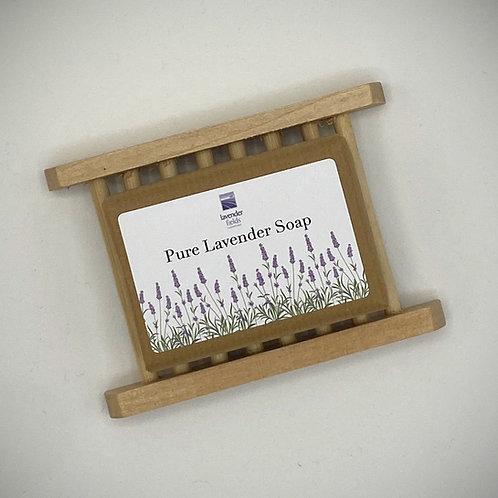 Lavender Soap & Dish Set - 100g
