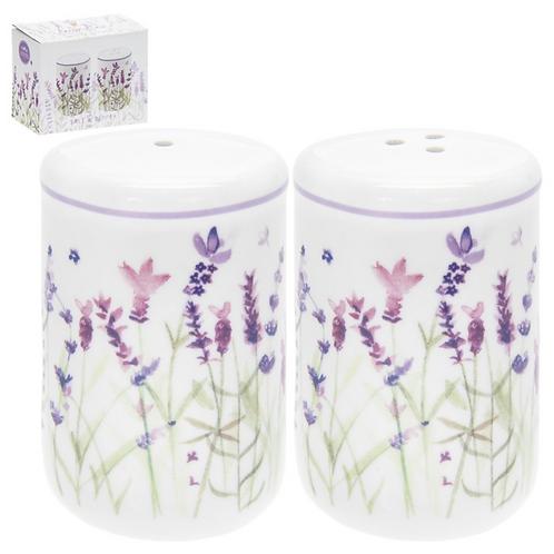 Lavender Design Salt & Pepper Pots