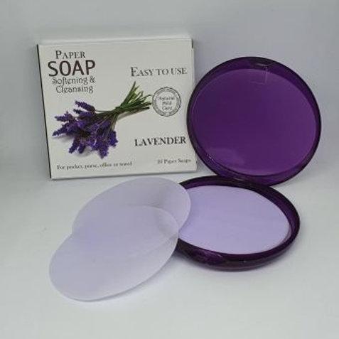 Lavender Paper Soap Sheets