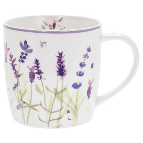 Lavender Design Chunky Mug