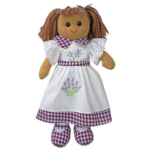 Lavender Embroidered Rag Doll