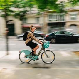 locomotion urbain vélib psite cyclable paris