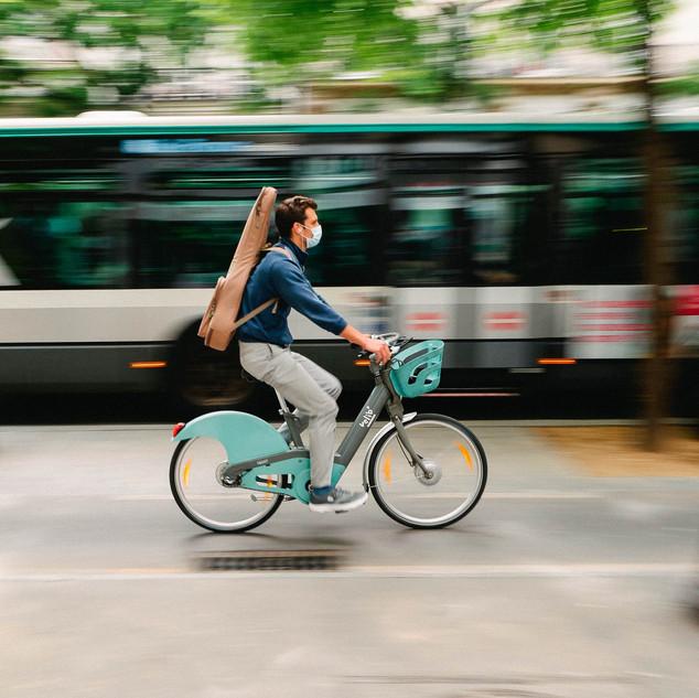 circulation urbaine en vélo grande ville de france