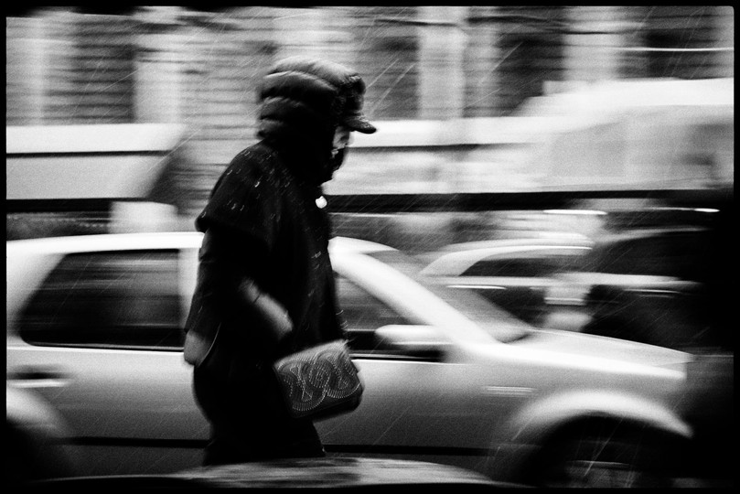 Laurent Delhourme - French street photographer - Neige à Paris