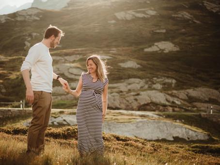 Maternity Photoshoot in Ticino, Switzerland