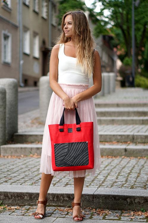 Shoperka MARIE - czerwona