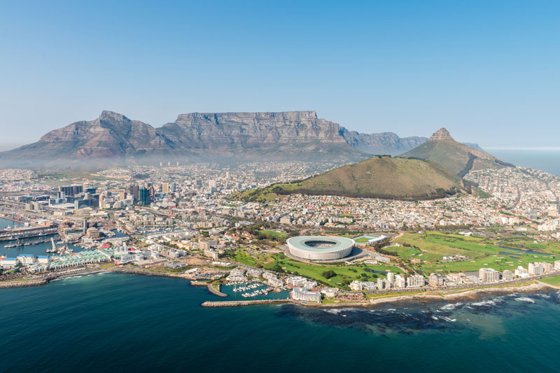 Aerial shot of Cape Town